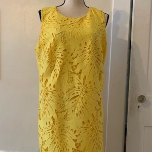 Banana Republic yellow summer dress Tall 16!